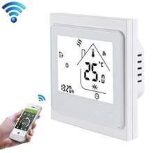 BHT-002GBLW 16A belasting elektronische verwarming Type LCD digitale kamerthermostaat met Sensor & tijdweergave  Verwarming WiFi Control(White)