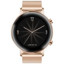 HUAWEI WATCH GT 2 42mm Metal Wristband Bluetooth Fitness Tracker Smart Watch  Kirin A1 Chip  Support Heart Rate & Pressure Monitoring / Sports Recording / Bluetooth Music / GPS(Gold)