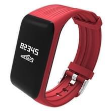 K1 0 66 inch OLED Display Bluetooth sport Slimme armband  waterdicht IP68  steun hartslagmeter / stappenteller / gesprekken herinneren / slapen Monitor / sedentaire herinnering / Remote vangen  compatibel met Android en iOS Phones(Red)