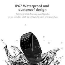 608HR 0 66 inch OLED Touch Screen Display Bluetooth intelligentie hartslag Slimme armband  waterdicht IP67  steun stappenteller / Real-time hartslag Monitor / Barometer / Alarm Clock herinnering / slapen Monitor / spiegelen heldere scherm / Call herinneri