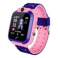 Q12 1 44 inch kleurenscherm Smartwatch voor kinderen IP67 waterdicht  ondersteuning LBS positionering/Tweestapskeuze/One-Key EHBO/stem monitoring/Setracker APP (roze)