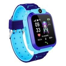Q12 1 44 inch kleurenscherm Smartwatch voor kinderen IP67 waterdicht  ondersteuning LBS positionering/tweeweg kiezen/One-Key EHBO/stem monitoring/Setracker APP (blauw)