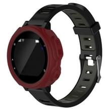 Effen kleur siliconen horloge beschermhoes voor de Garmin F235 / F750(Red)