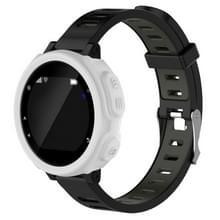 Effen kleur siliconen horloge beschermhoes voor de Garmin F235 / F750(White)
