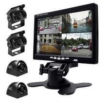 K0164 7 inch HD auto 18 IR nachtzicht achteruitkijk back-up vier camera's rearview monitor