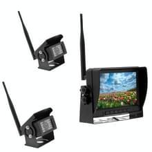 K0232 7 inch 140 graden groothoek HD auto achteruitkijk back-up dubbele camera's rearview monitor split screen