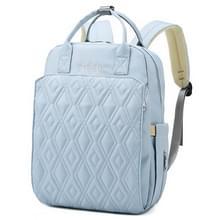 Waterproof Solid Color Rhombic Rooster Mummy Rugzak Double-shoulder Bag (Lake Blue)