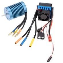 3650 4370KV 4P sensorlose Brushless Motor met 45A Brushless elektrische snelheidsregelaar voor 1/10 RC auto Truck