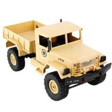 WPL B-1 DIY vergadering 1:16 de RC militaire Mini 4WD Truck controle auto Toy (geel)