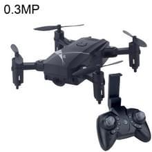 LF602 Mini Quadcopter opvouwbare RC Drone met 0.3MP Camera  een batterij  Support stuurt & achteruit  360 graden draaien  hoogte Mode(Black) houden