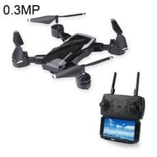 LF609 Opvouwbare Wifi FPV RC Drone Quadcopter met 0.3MP Camera  een batterij  ondersteunen vooruit & achteruit  360 graden draaien  hoogte houden modus (zwart)