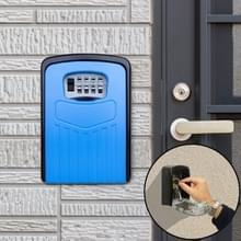 Grote wachtwoord lock metalen opbergdoos Villa veiligheid vak Wandkast veiligheid box (blauw)
