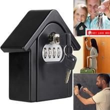 Hut vorm wachtwoord lock opbergdoos veiligheid vak Wandkast veiligheid box (zwart)
