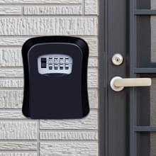 Wachtwoord lock metalen opbergdoos deur veiligheid vak muur kabinet sleutel veiligheid box (zwart)