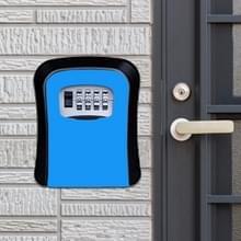 Wachtwoord lock metalen opbergdoos deur veiligheid vak muur kabinet sleutel veiligheid box (blauw)