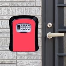 Wachtwoord lock metalen opbergdoos deur veiligheid vak muur kabinet sleutel veiligheid box (rood)