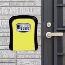 Wachtwoord lock metalen opbergdoos deur veiligheid vak muur kabinet sleutel veiligheid box (geel)