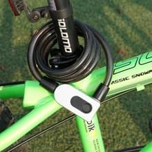 GQ10F IP66 waterdichte anti-diefstal fietsslot slimme vingerafdruk stalen ring Lock (zwart)