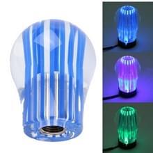 Crystal drie licht auto ademhaling Racing Dash LED Magic Lamp Gear hoofd Shift knop met Base  grootte: 6.0 * 4 5 * 3.0 cm(Blue)