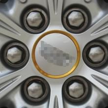 4-delige auto aluminium Hub Deroration wielring voor Cadillac (goud)