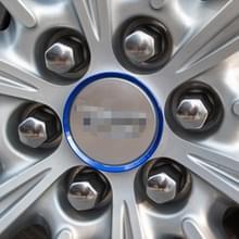 4-delige auto aluminium Hub Deroration wielring voor Cadillac (blauw)