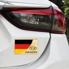 Universele auto Duitse vlag rechthoek vorm VIP Metal decoratieve sticker (goud)