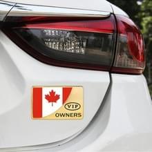 Universele auto Canada vlag rechthoek vorm VIP Metal decoratieve sticker (goud)