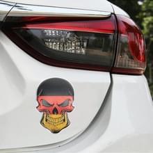 Universele auto Duitse vlag schedel vorm metalen decoratieve sticker