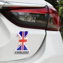 Universele auto UK vlag nummer 1 vorm metalen decoratieve sticker