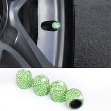 Auto Crystal Tire Valve Cap Gasdop mondstuk deksel (groen)