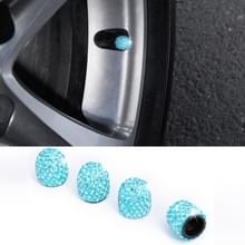 Auto Crystal Tire Valve Cap Gasdop mondstuk cover (meer blauw)