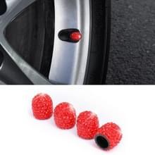 Auto Crystal Tire Valve Cap Gasdop mondstuk deksel (rood)