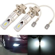 2 stuks H3 DC12V/4.5 W/6000K/360LM auto LED mistlicht met 6 CSP lamp kralen  wit licht (zilver)