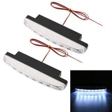 1 paar DC9-16V 2W 120LM 7000K 8 SMD-5050-LEDs circulaire auto DRL & turn Light