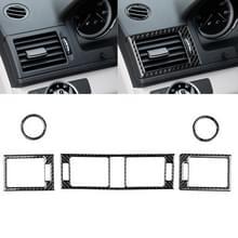 Auto Carbon Fiber luchtuitlaat ring + tussenliggende luchtuitlaat + side Air Outlet panel decoratieve sticker voor Mercedes-Benz W204 2007-2010