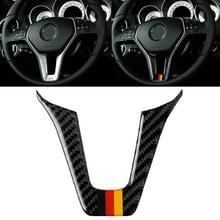 Auto Duitse vlag Carbon Fiber stuurwiel decoratieve sticker voor Mercedes-Benz