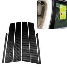 Auto Carbon Fiber B kolom decoratieve sticker voor Mercedes-Benz W204 2007-2013