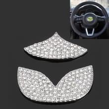 Universele auto stuurwiel Diamond decoratieve stickers voor Mazda