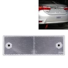10 stuks auto Rear Bumper waarschuwing kunststof Reflector en Sign(White)
