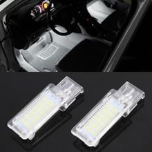 2 stuks DC12V/1.5 W/6000K/100LM auto voet nest Lights Footwell lamp zetel lamp 18LEDs SMD-3528 lampen voor Volkswagen (wit licht)