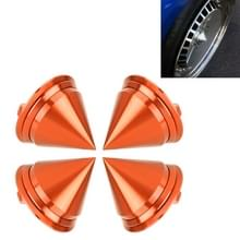 4 STKS auto Tyre hub centrum Cap cover (oranje)