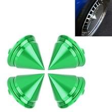 4 STKS auto Tyre hub centrum Cap cover (groen)