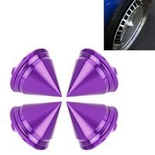 4 STKS auto Tyre hub centrum Cap cover (paars)