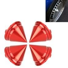 4 STKS auto Tyre hub centrum Cap cover (rood)