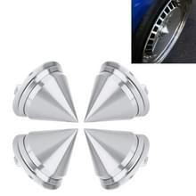 4 STKS auto Tyre hub centrum Cap cover (zilver)