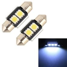 2 stuks 31mm DC12V/1.7 W/7000K/70LM 2LEDs SMD-5050 auto Lees lamp (wit licht)