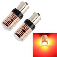 2 PCS 1156/BAU15S DC12V/18W/1080LM auto auto draai lichten met SMD-3014 lampen (rood licht)