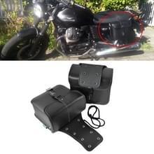 Motorfiets accessoires bewerkt kant van de doos lederen tas Knight Bag Kit (zwart)