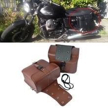 Motorfiets accessoires gewijzigde kant van de doos lederen tas Knight Bag Kit (Bruin)