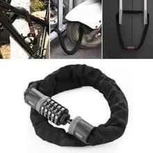 Motorfietsen/fietsketting slot 5 cijfers wachtwoord anti-diefstal wachtwoord vergrendelen  lengte: 1 2 m